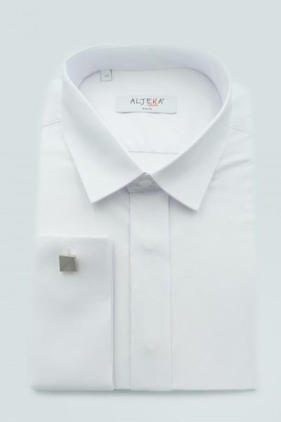 koszula biała spinka