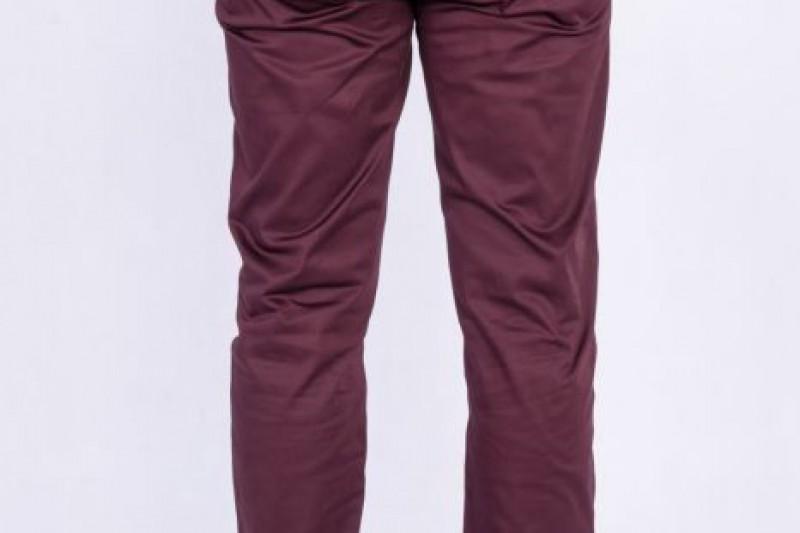 spodnie chino bordo 1